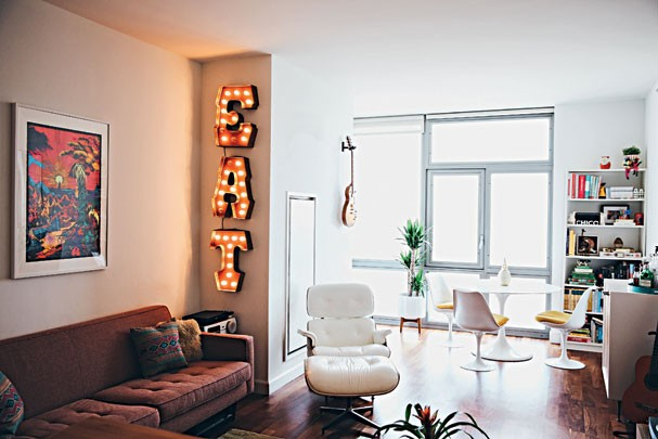 Apartamento da Raiza Costa, em NY (Foto: Leila Jacue)