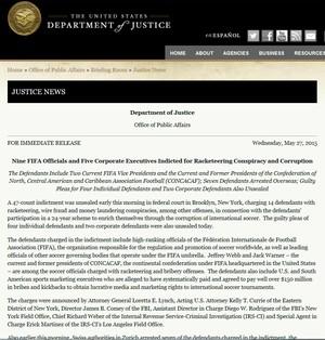 Departamento Justiça dos EUA (Foto: Reprodução)