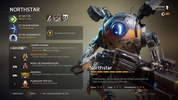 Titanfall 2: titãs também são customizáveis no novo FPS (Foto: Reprodução/Victor Teixeira)