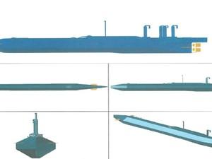 Projeto similar ao do submarino que seria construído pela quadrilha (Foto: Reprodução/ Polícia Federal)
