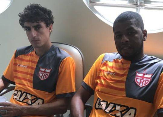 Clebinho e Audálio (Foto: Ascom/CRB)