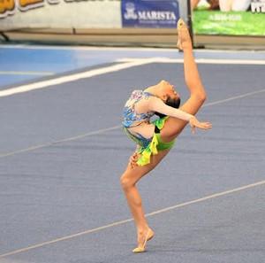 Maria Eduarda, ginasta alagoana (Foto: Thiago Parmalat )