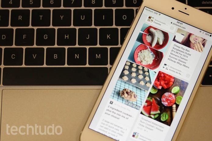 Pinterest é bastante usada por profissionais criativos em busca de inspiração (Foto: Luana Marfim/TechTudo)