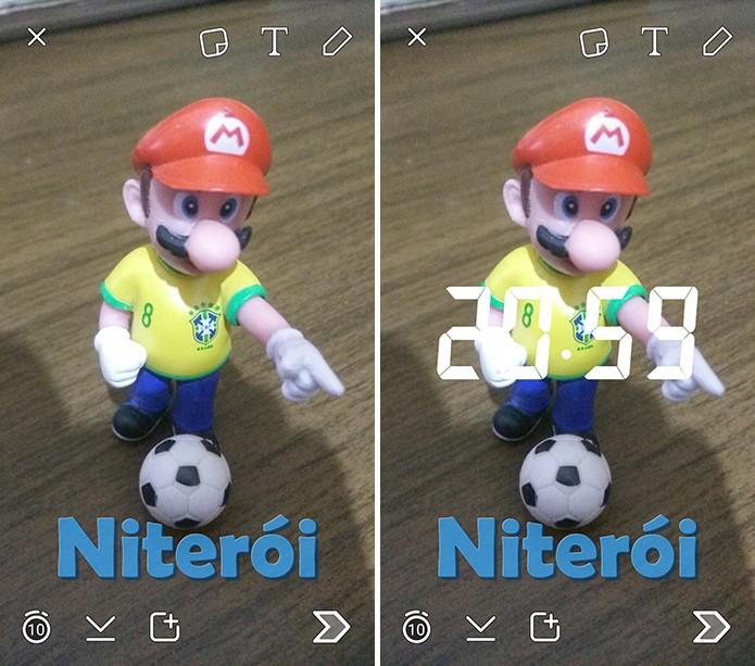 Snapchat tem falha que permite que usuário adicione dois filtros de uma só vez (Foto: Reprodução/Elson de Souza)