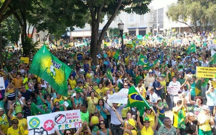 Manifestação em Piracicaba