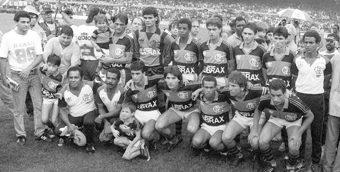 Especial Zico 60 anos - Flamengo 1987 (Foto: Gazeta Press)