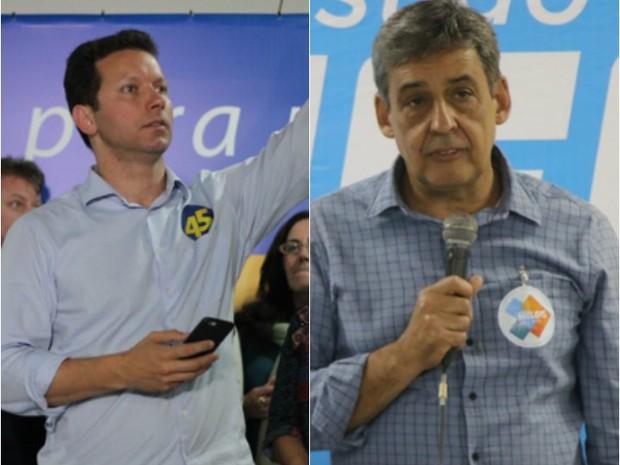 Marchezan (PSDB) e Melo (PMDB) vão ao segundo turno em Porto Alegre (Foto: Montagem fotos/G1)
