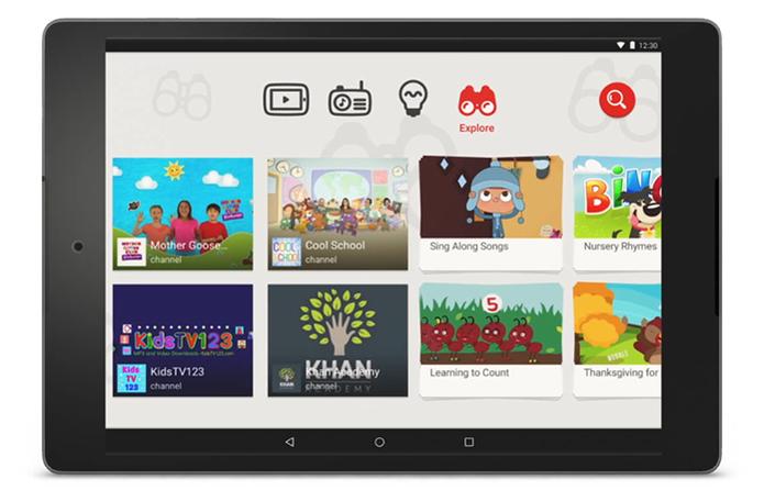 Interface do YouTube Kids tem botões grandes e interatividade (Foto: Divulgação/YouTube)