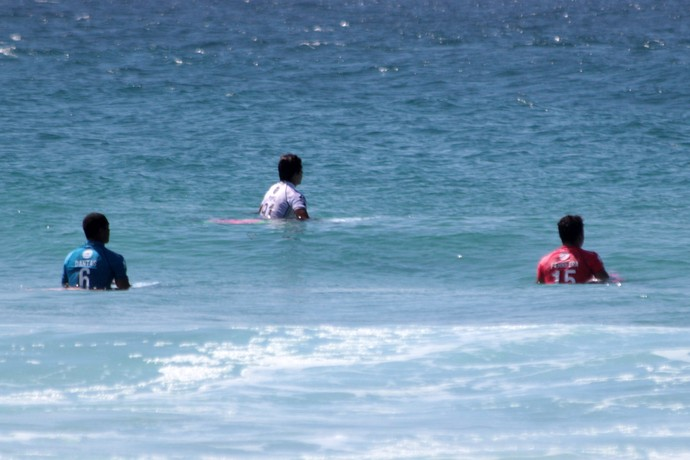 Ítalo Ferreira, Miguel Pupo e Wiggolly Dantas na bateria 100% brasileira no round 4 em Gold Coast - Mundial de Surfe (Foto: Luciana Pinciara / Motion Photos)