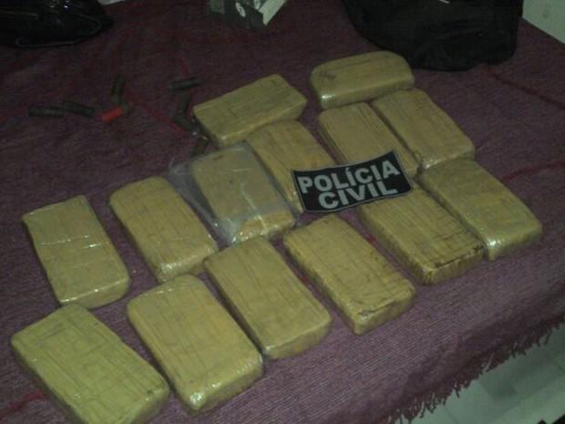 Droga apreendida pela políca em Campo Maior, no Piauí (Foto: Divulgação/Polícia Civil)