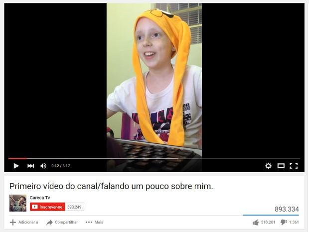 Vídeo teve quase 900 mil visualizações em dois dias (Foto: Reprodução/Youtube/Careca TV)