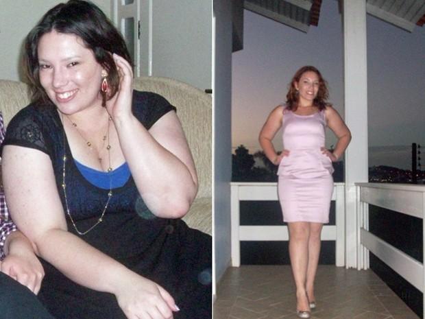 A catarinense descobriu o prazer pelo exercício físico e fez trocas na alimentação (Foto: Arquivo pessoal)