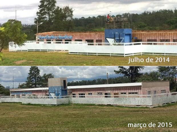 Galpão que vai ocupar primeiro módulo do Hospital Veterinário Público em julho de 2014 e em março de 2015  (Foto: Isabella Formiga/G1)