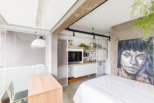 apartamento-pequeno-studio-projeto-casa-100-arquitetura (Foto: Andre Mortatti / Divulgação)