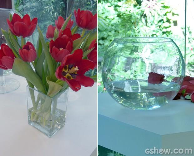 Decoradora ensina a fazer arranjos de rosas flutuantes e tulipas (Foto: Mais Você / TV Globo)