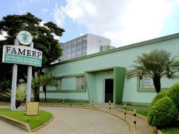 Fachada Famerp: Faculdade de Medicina e Enfermagem de Rio Preto  (Foto:  (Foto: (Foto: Divulgação/Famerp))