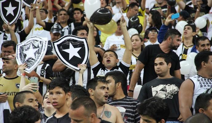 Torcida do Botafogo na Arena Amazônia (Foto: Adeilson Albuquerque)