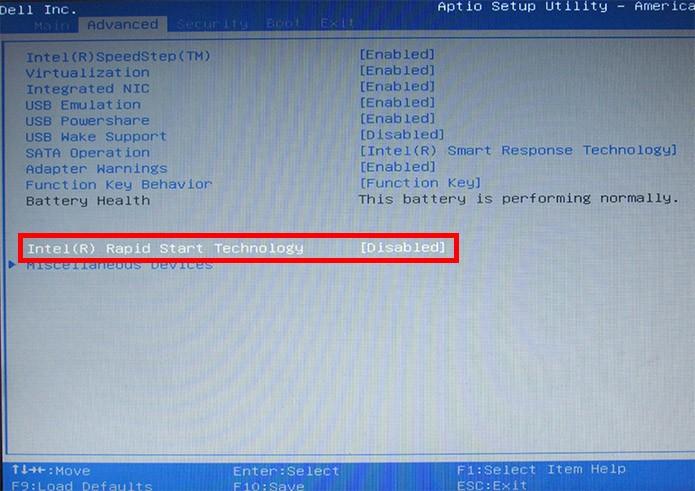 Selecione o Intel Rapid Start (Foto: Reprodução/Paulo Alves)
