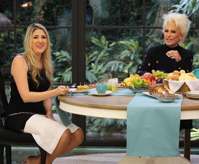 Dani Calabresa toma café da manhã com Ana Maria Braga e fala de sua relação com Marcelo Adnet (Foto: Carolina Berger / Gshow)