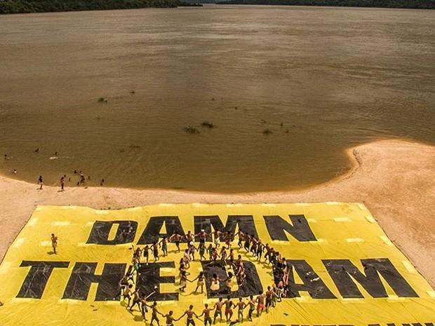 Greenpeace divulgou relatório no qual pede fim de construção de hidrelétricas no rio Tapajós e demarcação de terras indígenas. (Foto: Divulgação / Greenpeace)
