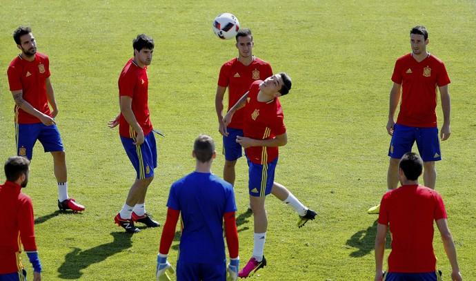 Espanha treino Eurocopa (Foto: EFE)