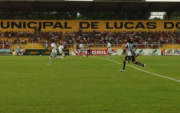 Treze vence Luverdense e se garante na Série C do Brasileirão em 2013 (Foto: Lucas de Senna/Globoesporte.com)