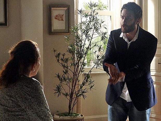 Rodrigo desabafa sobre a farsa de Amparo com Teresa (Foto: Amor Eterno Amor/TV Globo)