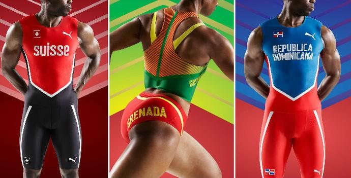 uniformes; atletismo; suíça; granada; puma; república dominicana (Foto: Divulgação/Puma)