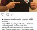 Em rede social, Alexandre Pato elogia contratação de Wellington Nem
