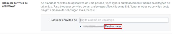 Amigos podem ser removidos da lista de bloqueio com um clique (Foto: Reprodução/Facebook)