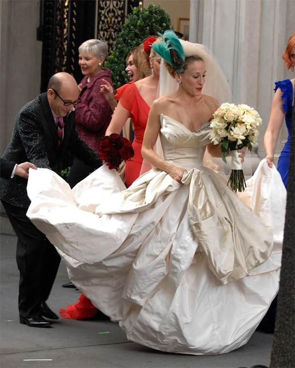 """Carrie Bradshaw: no filme de """"Sex and The City"""", seu celular teve grande participação em seu não-casamento com Mr Big (Foto: Reprodução)"""