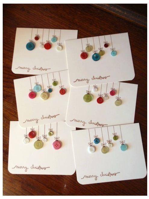Cartão com botões (Foto: Pinterest)