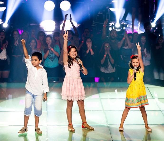O show também vai trazer de novo o 'trio Superfanstástico' do The Voice Kids: Igor, Kaliny e Rafa (Foto: Arquivo pessoal)