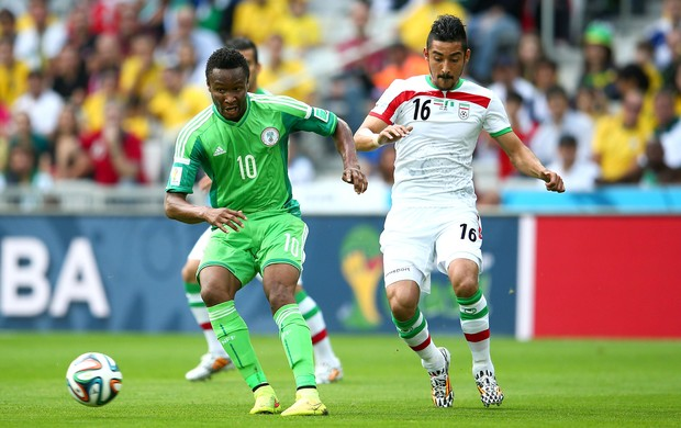 John Obi Mikel jogo Irã x Nigéria (Foto: Getty Images)