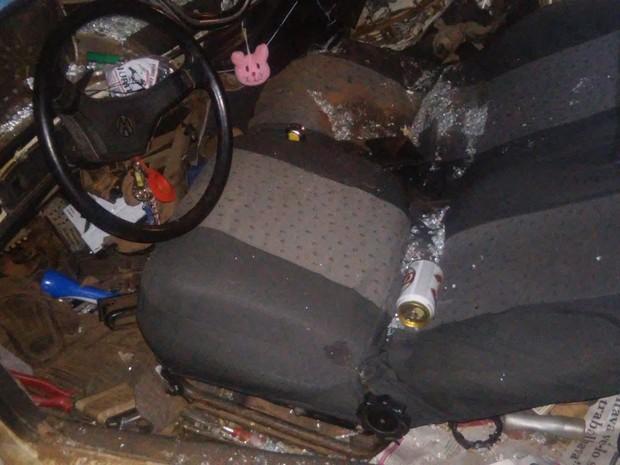 Motorista que estava na contramão teve ferimentos leves (Foto: Divulgação / Polícia Rodoviária)