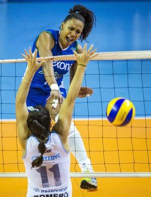 Juciely é um dos destaque do Rio de Janeiro contra argentinas do Villa Dora (Foto: Marcio Rodrigues/MPIX)