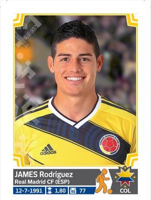 Álbum da Copa América - Jamez Rodriguez Colombia