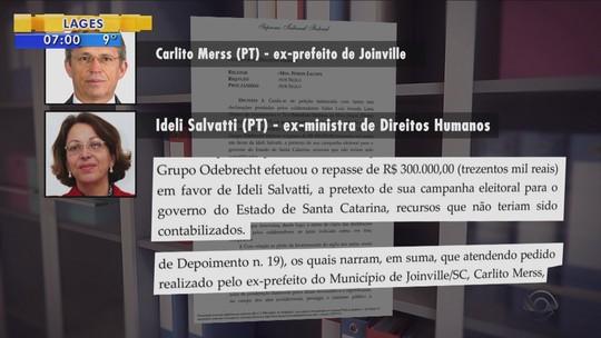 Delações da Odebrecht: Ideli Salvatti é suspeita de receber R$ 300 mil a pedido de Carlito Merss