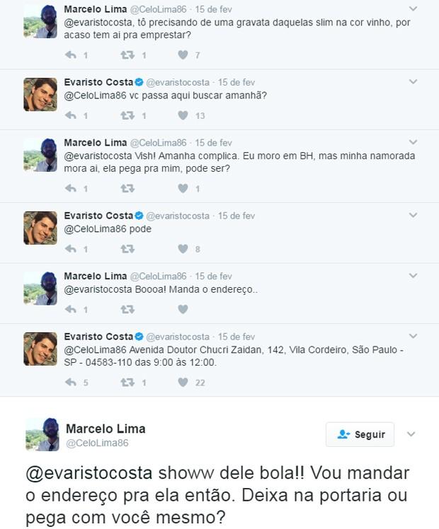 Evaristo Costa e fã (Foto: Reprodução)