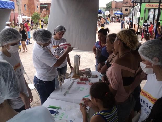 Projeto Nesta Rua Tem Saúde oferece diversos serviços à população neste sábado (6), em Belém (Foto: Divulgação)