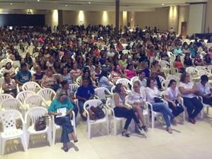 Palestra foi realizada em Cacoal e reuniu 1.100 pessoas (Foto: Magda Oliveira/ G1)