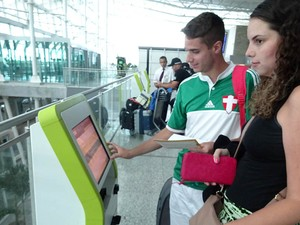 Passageiros aprovam o terminal (Foto: Fernanda Zauli/G1)