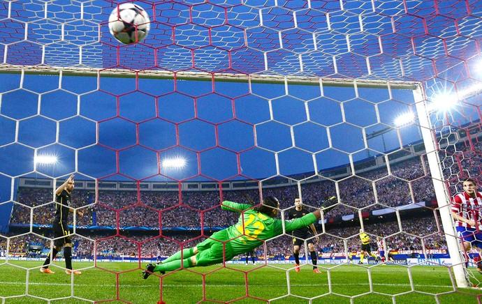 Koke gol Atlético de Madrid e Barcelona Liga (Foto: AFP)