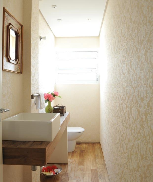 lavabo-papel-de-parede-Lica-Cukier (Foto: Marcelo Magnani/Editora Globo)