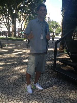 Calor em Curitiba (Foto: Thais Skodowski/G1)