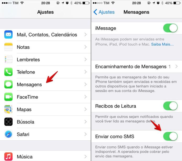Habilitando o envio automático de SMS (Foto: Reprodução/Helito Bijora)