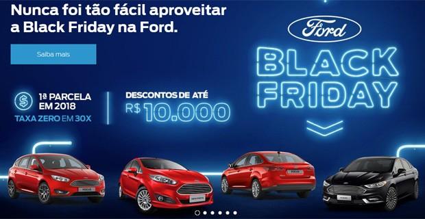 Ofertas da Ford na Black Friday (Foto: Reprodução)