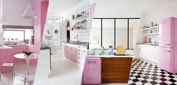 Top 10 cozinhas rosa (Foto: Casa Vogue)