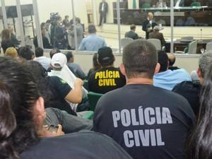 Conforme Sindpol, em 10 anos, categoria nunca recebeu promoção (Foto: Valéria Oliveira/ G1)