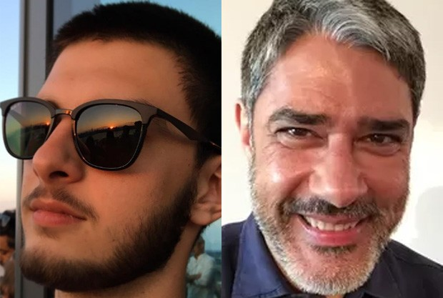 Filho de Fátima e Bonner aparece barbudo e fãs falam de semelhança com o pai